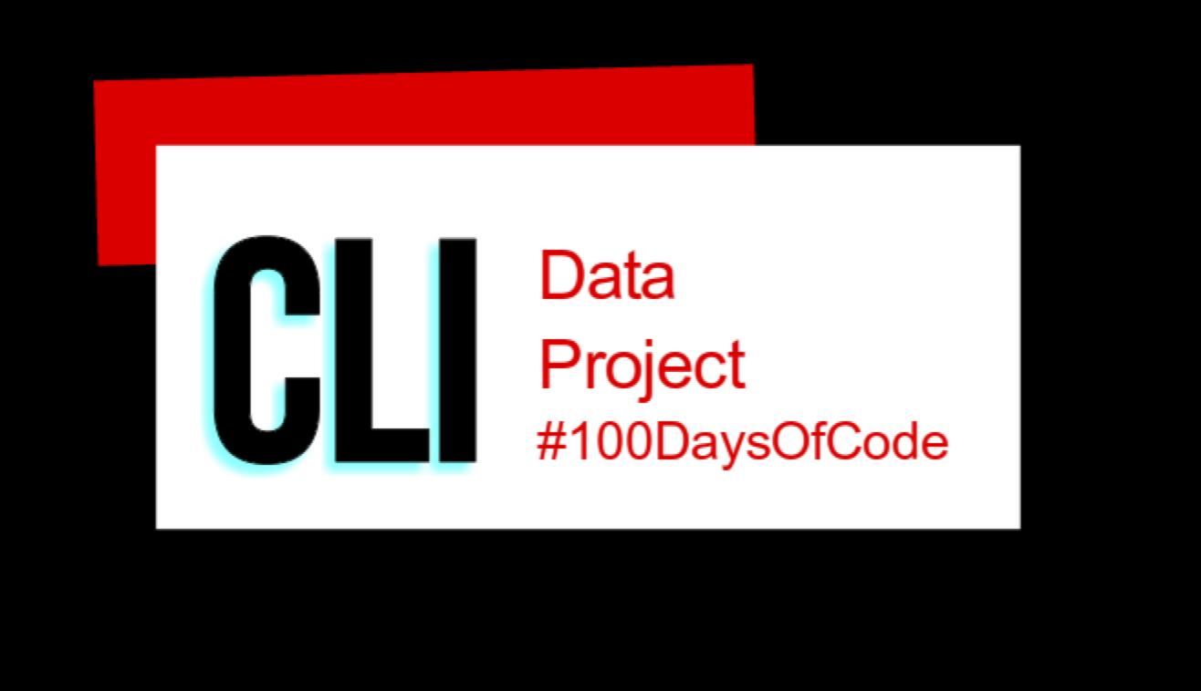 #100DaysOfCode CLI App